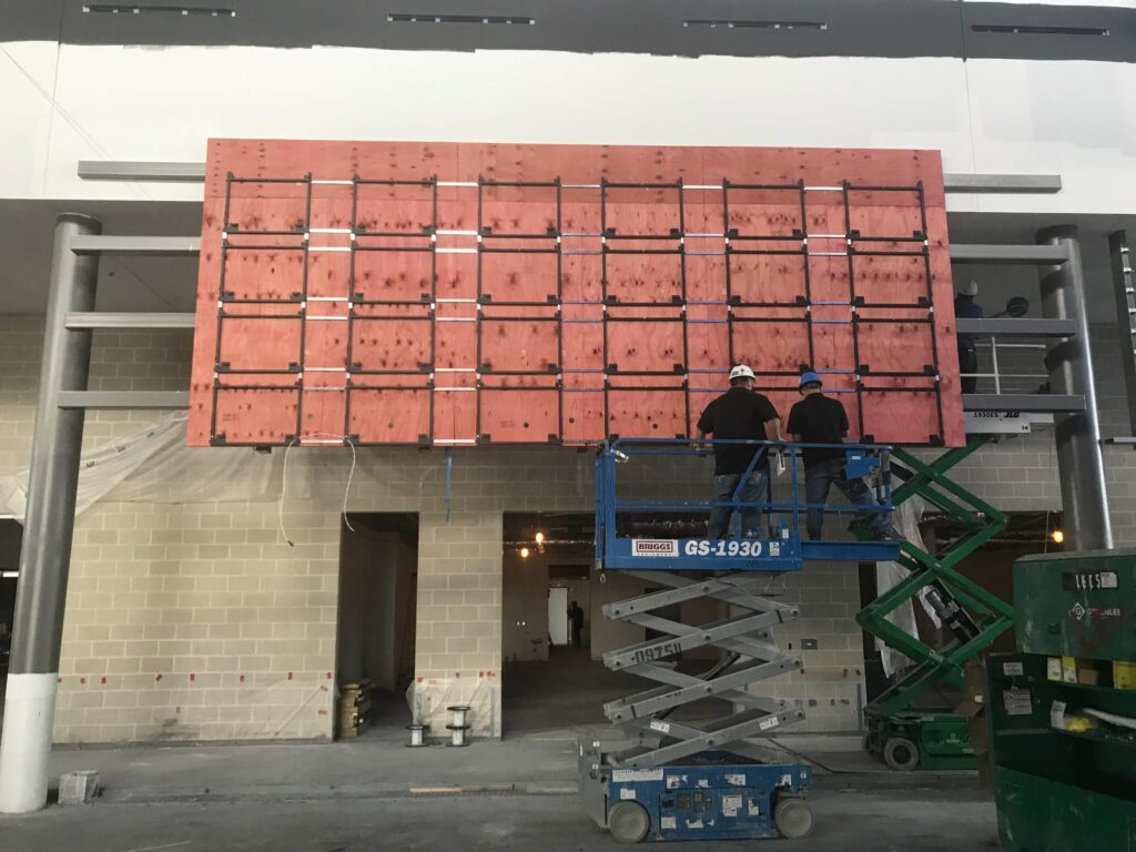 Construction Of Custom Video Wall
