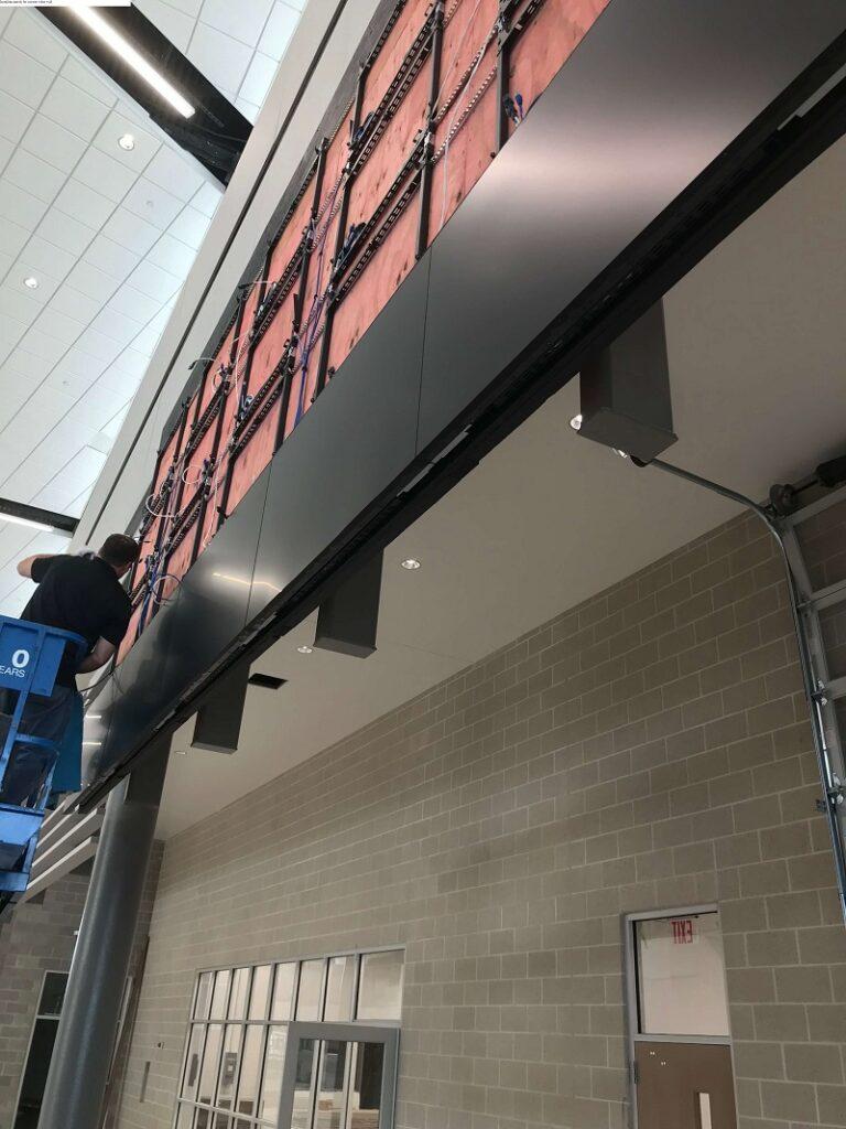 Installing Panels For Custom Video Wall