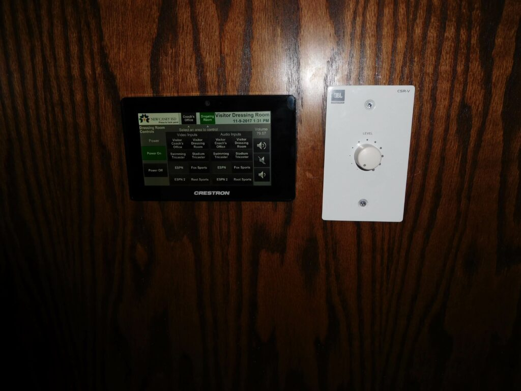 Locker Room Touch Screen Control System